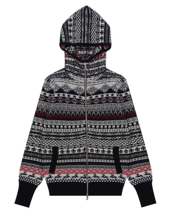 кардиган из шерсти с капюшоном артикул UCJQ15104P марки Gemma H купить за 24500 руб.
