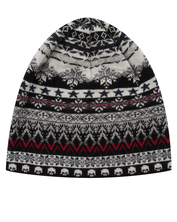 шапка из шерсти с зимним узором артикул UCJQ15CAP марки Gemma H купить за 4900 руб.
