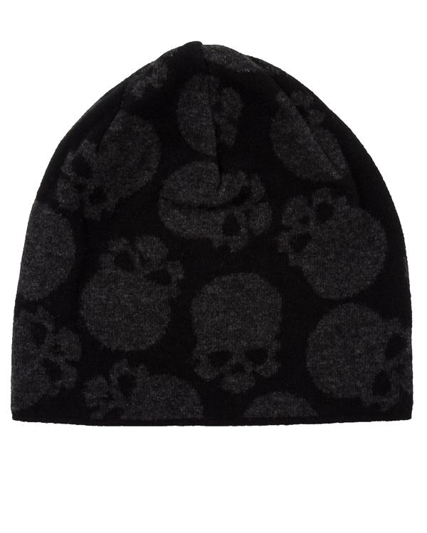 шапка из шерсти с принтом черепа артикул UCJQ3GCAP марки Gemma H купить за 4900 руб.