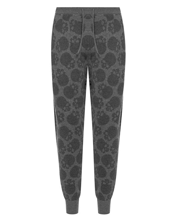 брюки спортивного кроя из шерсти с принтом черепа артикул UCJQ3GPANCB марки Gemma H купить за 18800 руб.