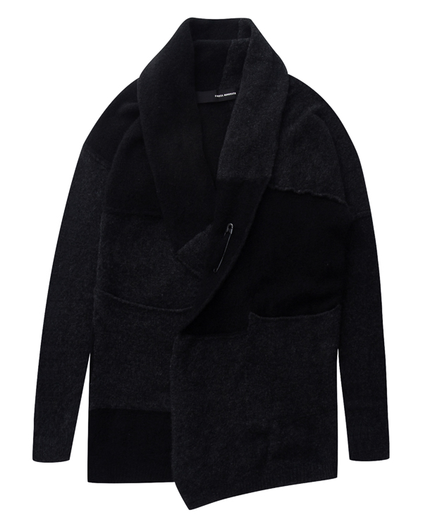 кардиган из мягкой шерсти со швами наружу  артикул UK3317 марки Isabel Benenato купить за 42900 руб.