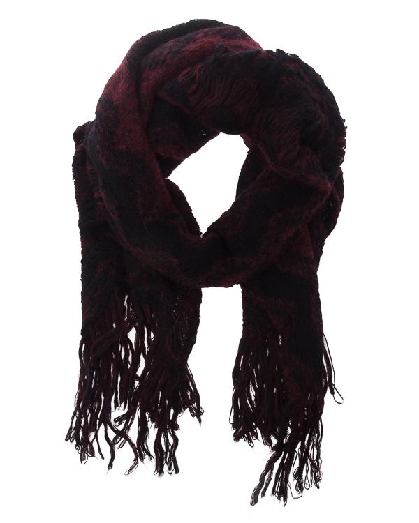 шарф из хлопка с добавлением мохера и шерсти альпаки артикул UK53F17 марки Isabel Benenato купить за 20000 руб.
