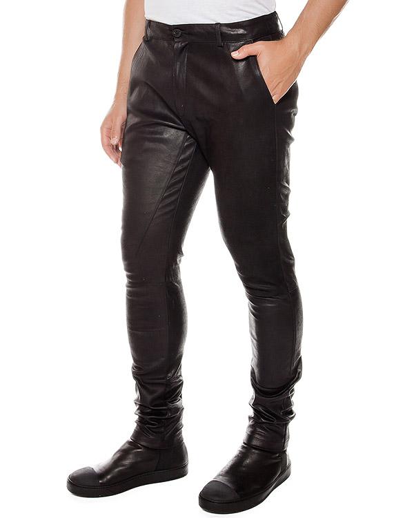 брюки из натуральной кожи артикул UL32F16 марки Isabel Benenato купить за 67600 руб.