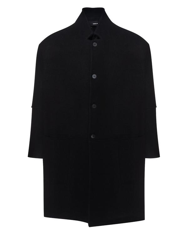 пальто прямого силуэта с карманами артикул UW52F17 марки Isabel Benenato купить за 70500 руб.