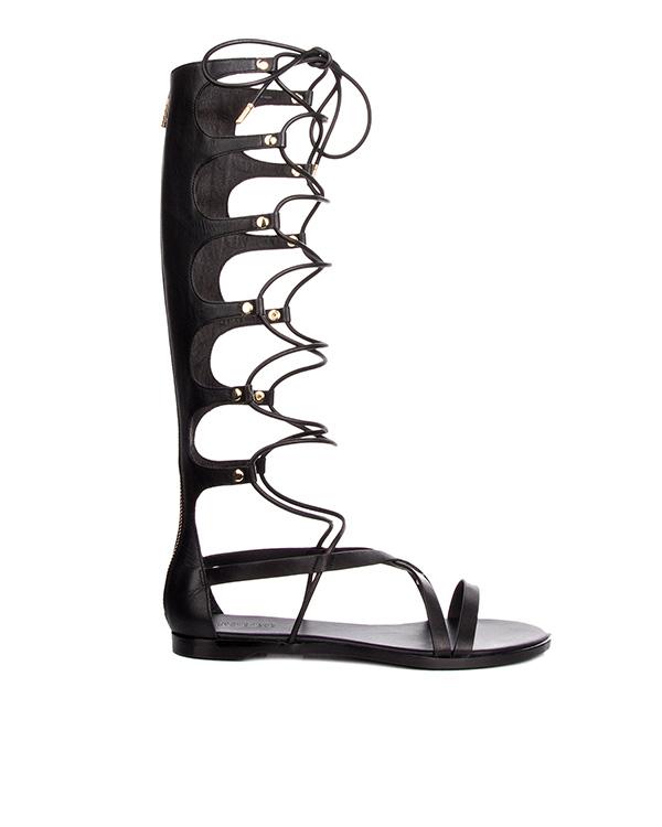 сандалии гладиаторы из натуральной кожи артикул V8044 марки Rachel Zoe купить за 35600 руб.