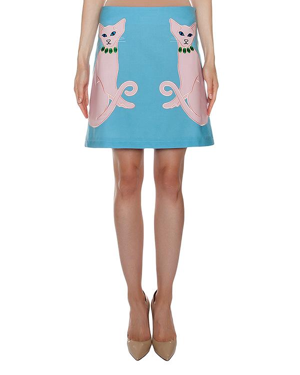юбка из тонкой шерсти с вышивкой артикул VP307 марки VIVETTA купить за 14500 руб.