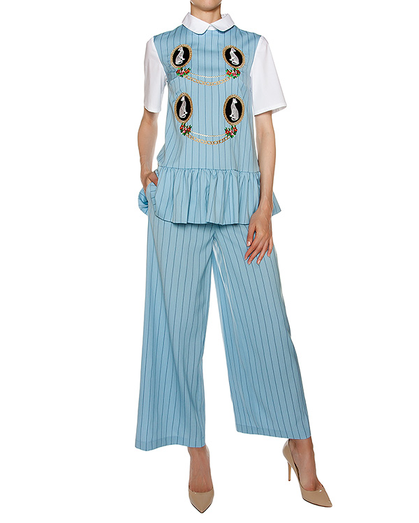 женская брюки VIVETTA, сезон: лето 2016. Купить за 10500 руб. | Фото 3