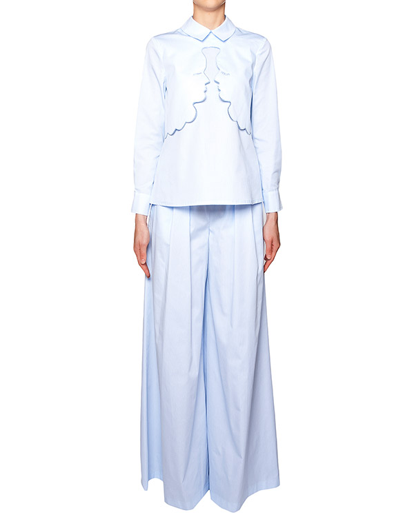 костюм рубашка и широкие брюки из мягкого трикотажа артикул VV248-VV418 марки VIVETTA купить за 16700 руб.