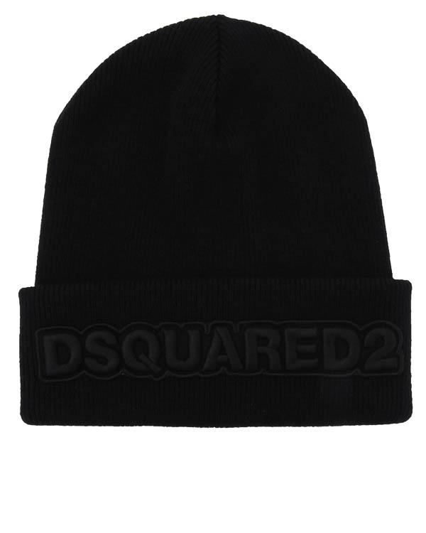 шапка из шерсти с нашивкой  артикул W17KH1002 марки DSQUARED2 купить за 12000 руб.