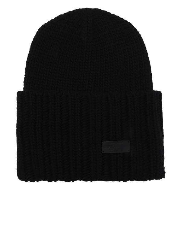 шапка вязаная с отворотом  артикул W17KH1006 марки DSQUARED2 купить за 7200 руб.