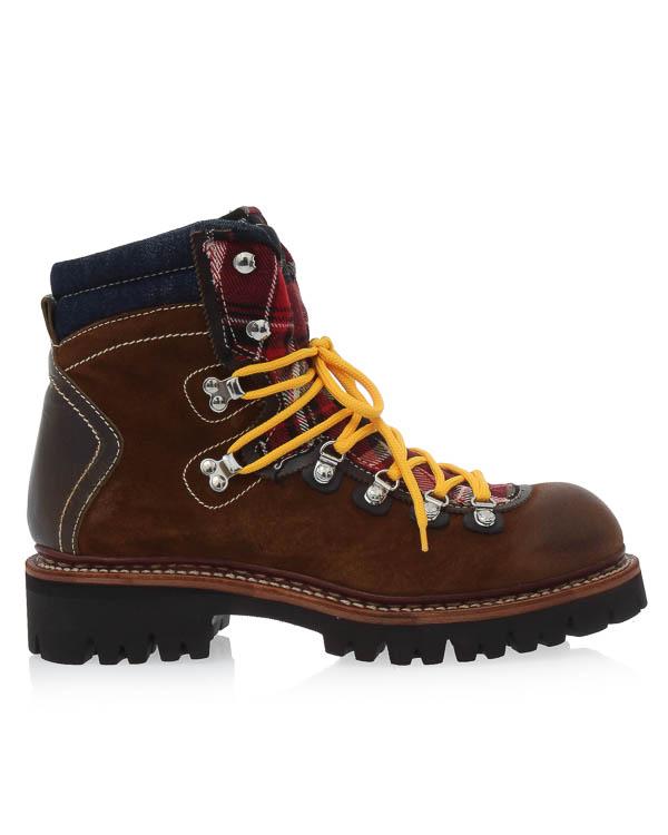 ботинки из кожи с отделкой фланелем артикул W17LA102 марки DSQUARED2 купить за 49600 руб.
