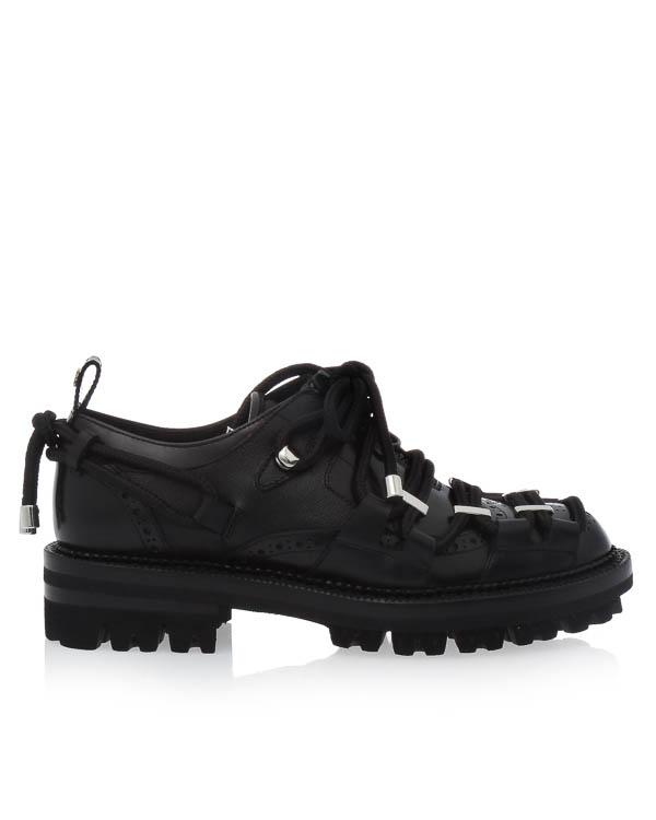 ботинки из кожи со шнуровкой артикул W17M202 марки DSQUARED2 купить за 65600 руб.
