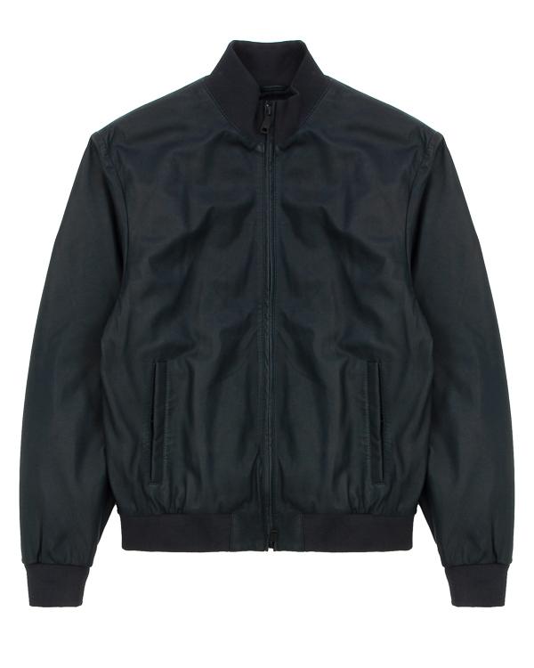 куртка прямого силуэта из кожи артикул ZGB01P марки ARMANI JEANS купить за 47100 руб.
