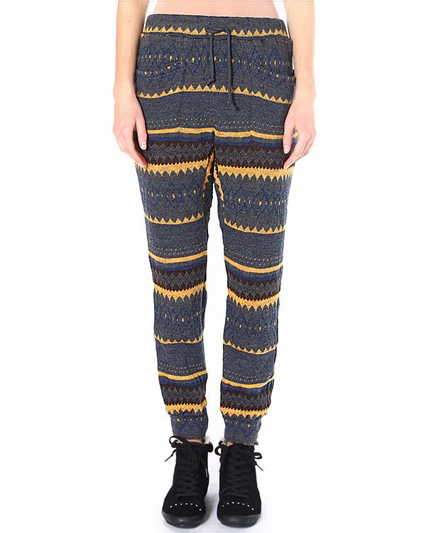 брюки зауженного силуэта, с узором в стиле этно артикул ZU49JF291 марки ZUCCA купить за 16600 руб.