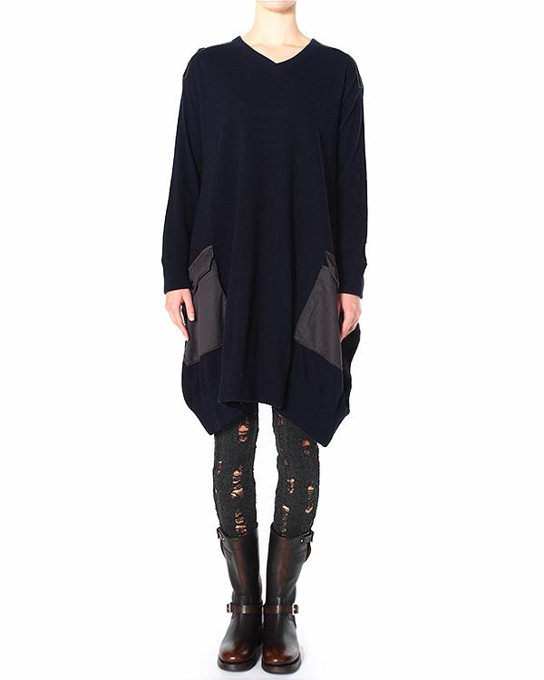 платье со вставками из ткани с глянцевым блеском артикул ZU49JH054 марки ZUCCA купить за 16600 руб.
