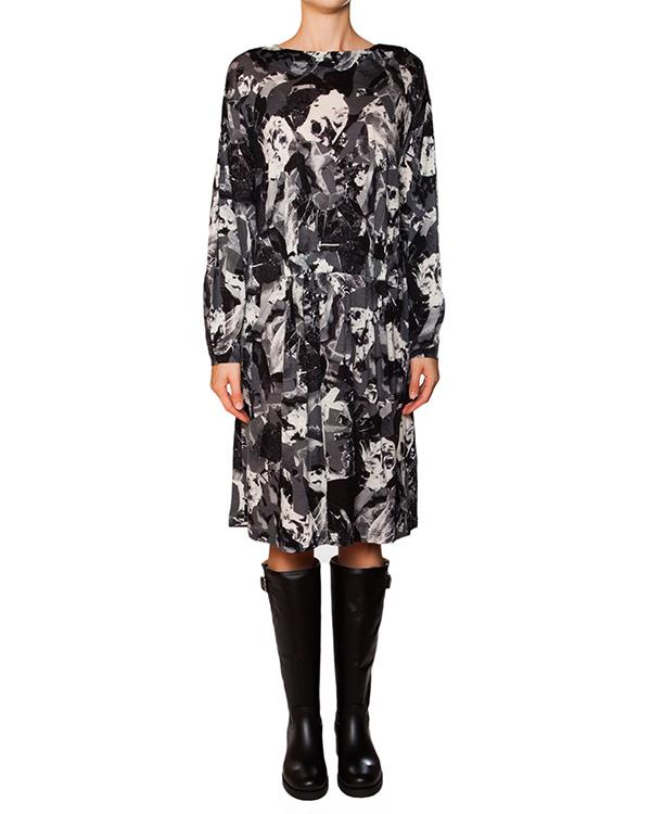 платье из мягкой шерсти с абстрактным принтом артикул ZU59JH320 марки ZUCCA купить за 13500 руб.