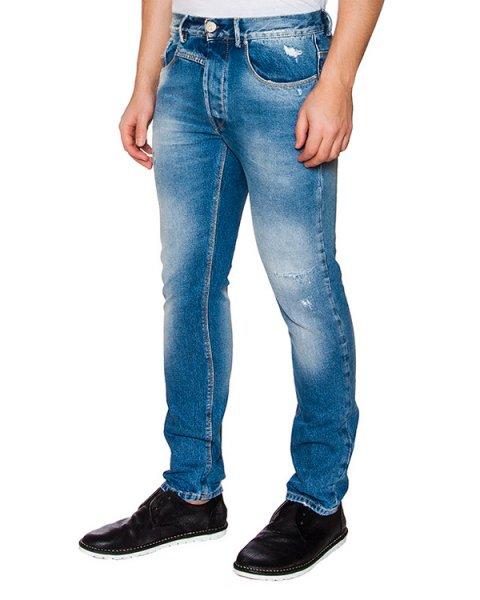 джинсы из плотного денима с выбеленными зонами артикул 03103PAUL261 марки P.M.D.S купить за 7000 руб.