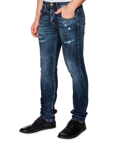 джинсы из плотного потертого денима артикул 03103PAUL264 марки P.M.D.S купить за 6600 руб.