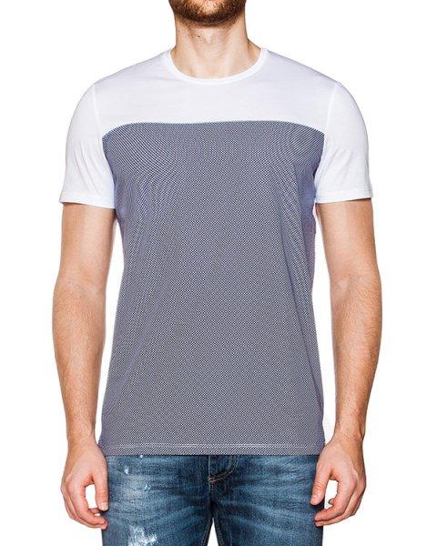 футболка из мягкого хлопкового трикотажа с узором в мелкий горох артикул 03336COMBI1 марки P.M.D.S купить за 4500 руб.