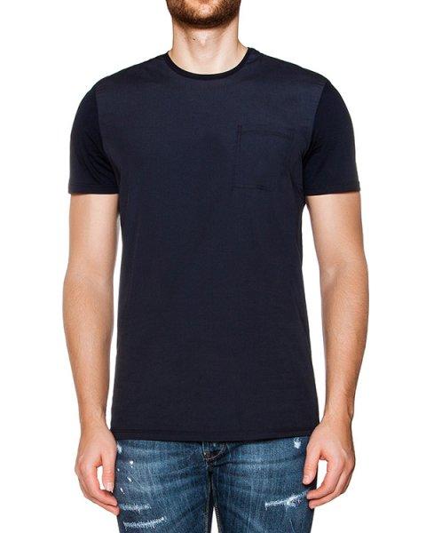 футболка из хлопкового трикотажа  артикул 03348NEWBLUE марки P.M.D.S купить за 4000 руб.
