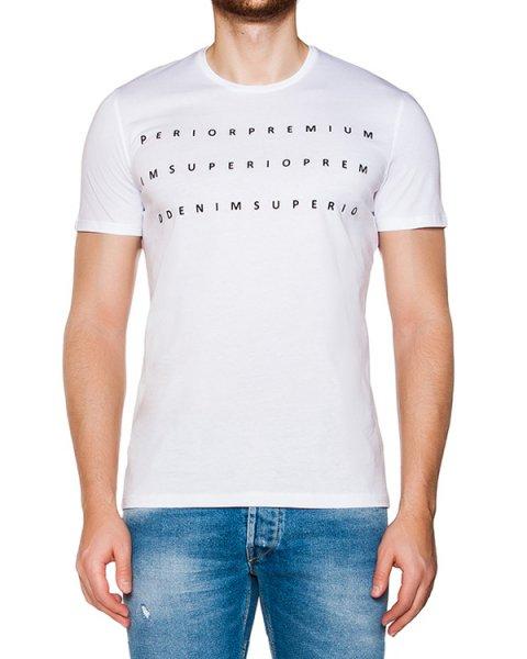 футболка из мягкого хлопкового трикотажа с аппликацией артикул 03354WRITTEN марки P.M.D.S купить за 4000 руб.
