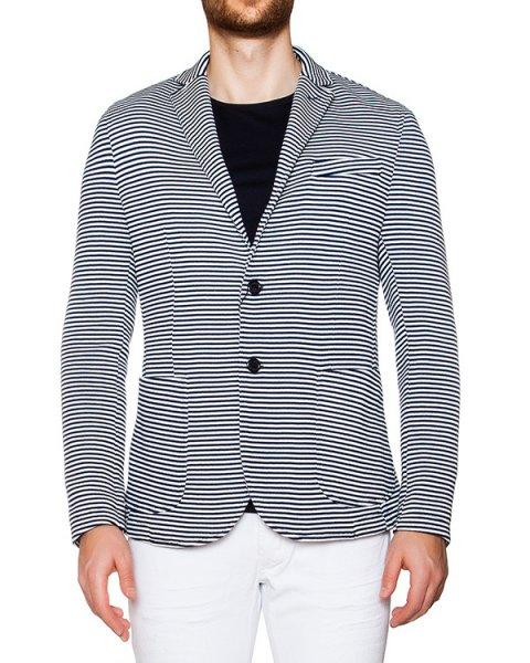 пиджак приталенного кроя из трикотажа в полоску артикул 03356RINGOLF марки P.M.D.S купить за 14900 руб.