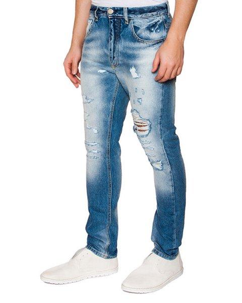 джинсы из потертого денима артикул 03364RAOUL261 марки P.M.D.S купить за 7600 руб.
