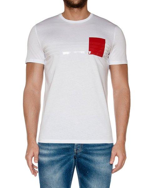 футболка из мягкого хлопкового трикотажа с контарстной отделкой артикул 03454TS марки P.M.D.S купить за 7500 руб.