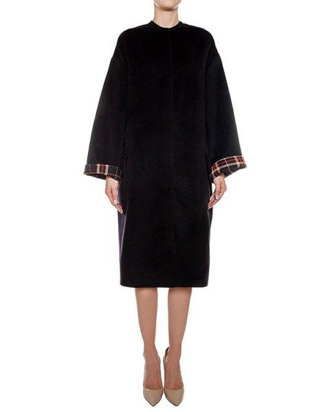 пальто двустороннее из шерсти и кашемира, сзади дополнено поясом с отделкой из меха рекса артикул 05AAFW16 марки Ava Adore купить за 80200 руб.