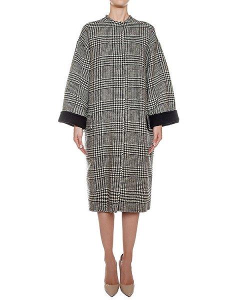 пальто двустороннее из шерсти и кашемира, сзади дополнено поясом с отделкой из меха рекса артикул 08AAFW16 марки Ava Adore купить за 80200 руб.