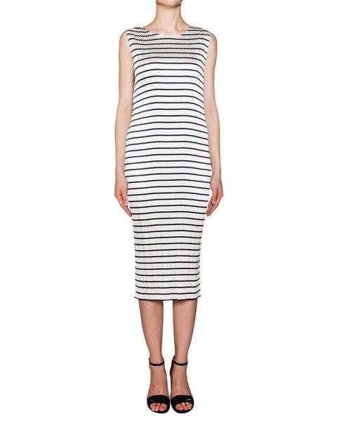 платье из тонкой плиссированной ткани в полоску артикул 106793S16 марки Alexander Wang купить за 27000 руб.