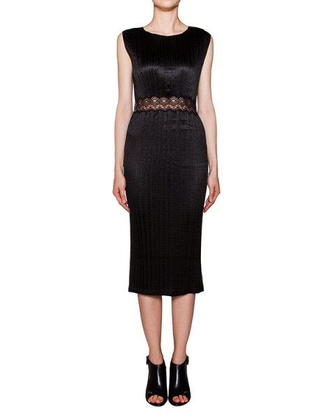 платье из тонкой плиссированной ткани с кружевной отделкой на поясе артикул 106824S16 марки Alexander Wang купить за 37800 руб.