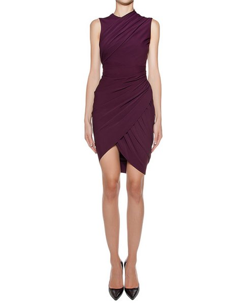 платье асимметричного кроя из тонкой эластичной ткани, декорировано драпировкой артикул 106854P16 марки Alexander Wang купить за 45400 руб.