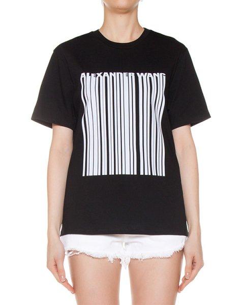 футболка из хлопка с принтом артикул 109984 марки Alexander Wang купить за 14500 руб.