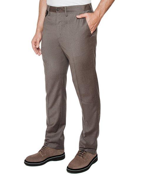 брюки классического кроя из микса шерсти и хлопка артикул 113606 марки Cortigiani купить за 32600 руб.