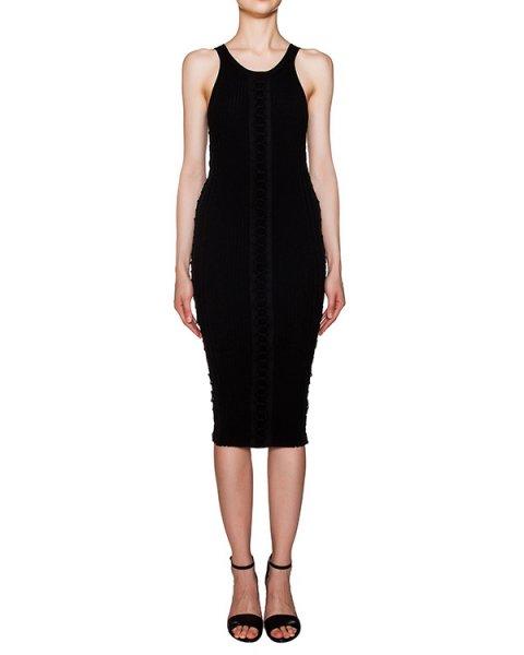 платье из эластичного трикотажа со шнуровкой по центру артикул 116095S16 марки Alexander Wang купить за 18500 руб.