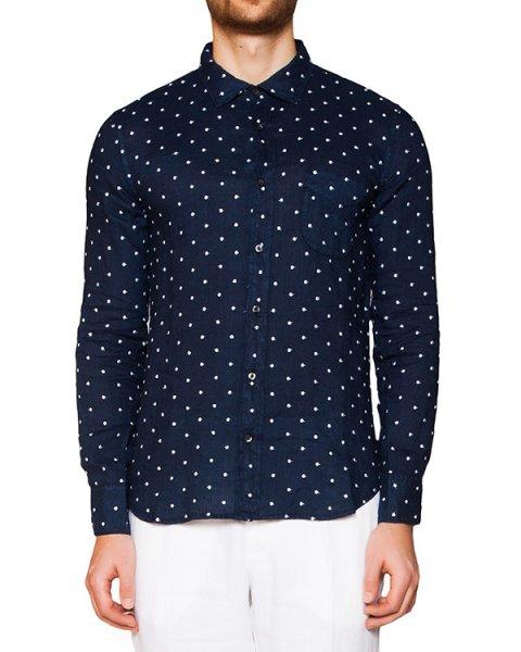 рубашка из легкого льна в мелкий горох артикул 1281E727 марки 120% lino купить за 15600 руб.