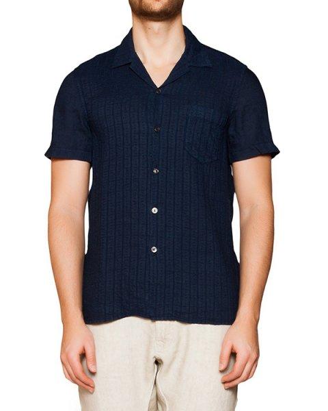 рубашка из тонкого льна с фактурным узором артикул 1320F133 марки 120% lino купить за 14500 руб.