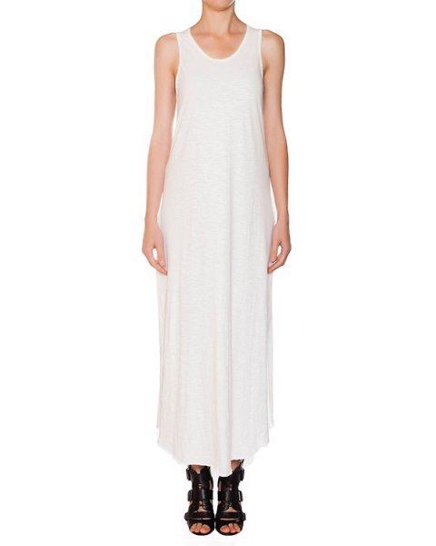 платье в пол из мягкого тонкого хлопка, декорировано разрезами на спине артикул 15230723R марки Lost&Found купить за 12000 руб.