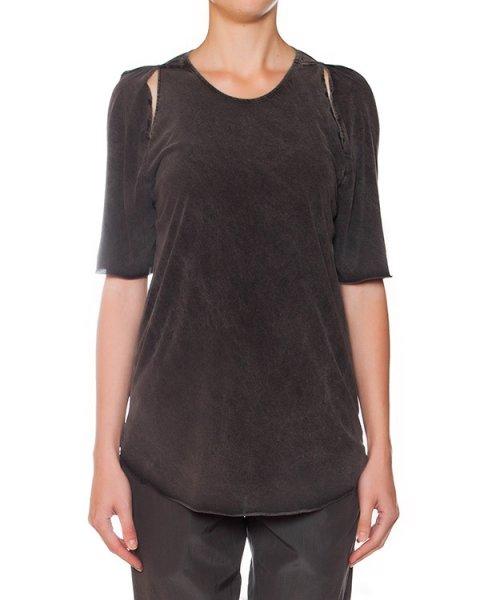 футболка из мягкого хлопка, декорирована вырезами на плечах артикул 15234180 марки Lost&Found купить за 15200 руб.