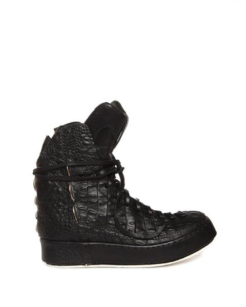 ботинки из натуральной кожи с тиснением под крокодила артикул 15903/A марки Artselab купить за 21000 руб.
