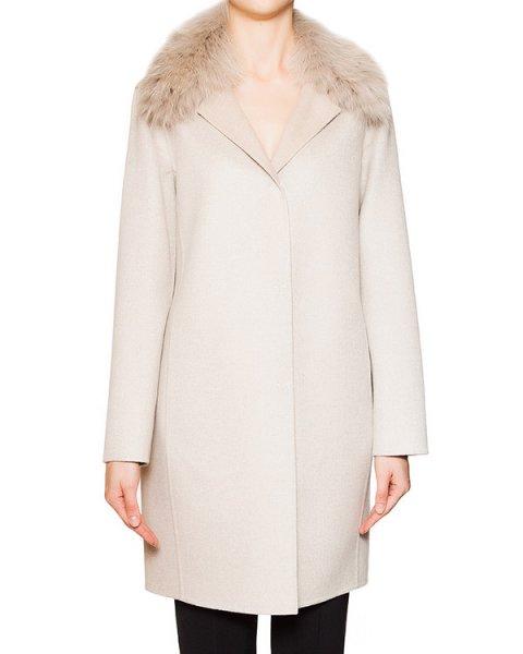 пальто из кашемира Loro Piana с воротником из натурального меха лисы артикул 15M247 марки Manzoni купить за 123500 руб.