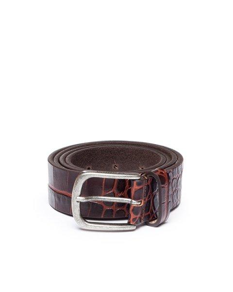 ремень из натуральной кожи с тиснением под рептилию артикул 15WCPUA01612 марки C.P.Company купить за 6300 руб.