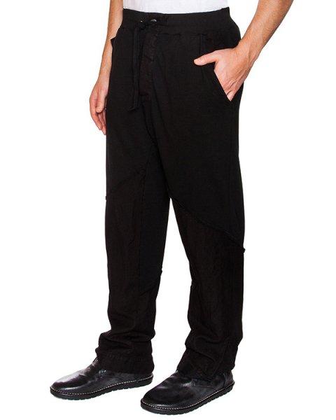 брюки свободного кроя из плотного хлопка и льна артикул 16MGEDA33 марки Andrea Ya'aqov купить за 25300 руб.