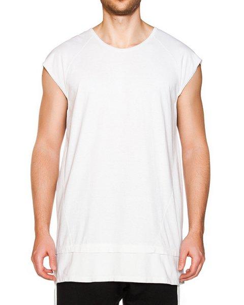футболка двухслойная из мягкого хлопка с длинными завязками по бокам  артикул 16MOPCO26 марки Andrea Ya'aqov купить за 13000 руб.
