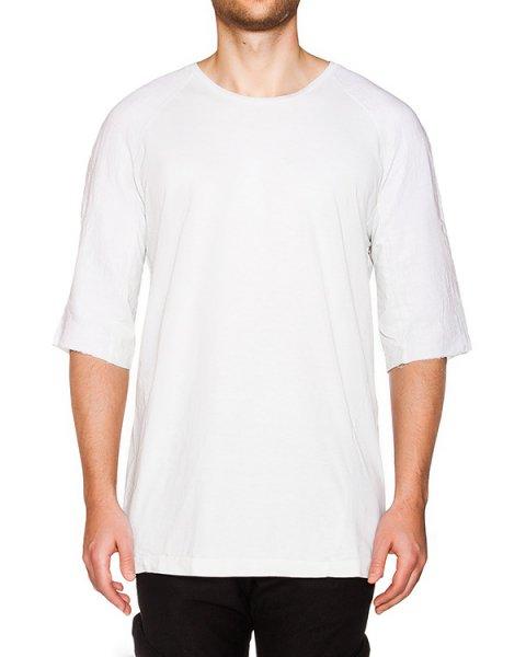 футболка из мягкого хлопка,на спине дополнена вставкой из тонкого льна  артикул 16MOPRO43 марки Andrea Ya'aqov купить за 15200 руб.