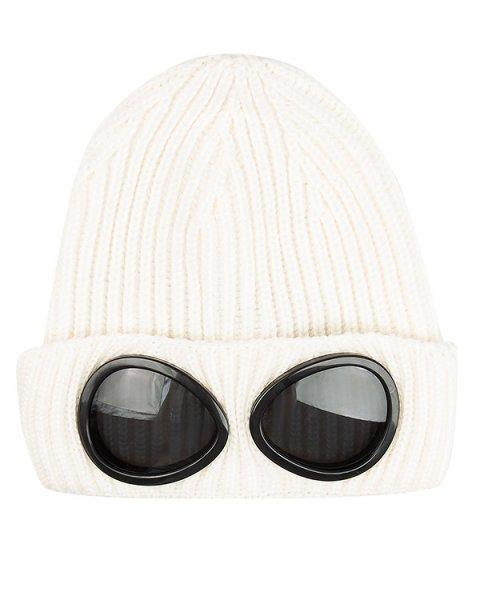 шапка вязаная с имитацией защитных очков артикул 16WCPUA05261 марки C.P.Company купить за 4200 руб.