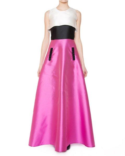 платье вечернее, из плотной ткани с шелком, украшено отделкой из бисера и бусин артикул 171517552 марки LUBLU Kira Plastinina купить за 23800 руб.