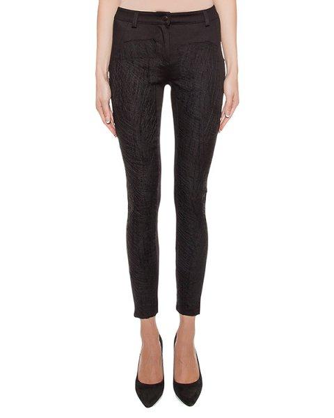 джинсы из эластичного денима, спереди декорированы строчкой артикул 17WALY49 марки Andrea Ya'aqov купить за 28400 руб.