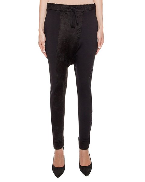 брюки из хлопкового трикотажа с отделкой из ворсистой ткани артикул 17WFEP14 марки Andrea Ya'aqov купить за 18700 руб.